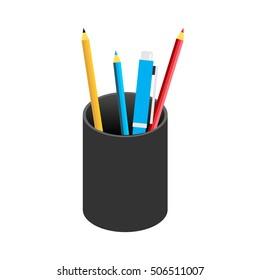 Pencil case icon.