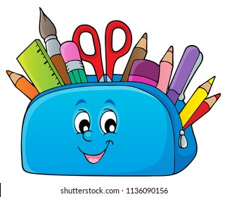 Pencil case theme image 2 - eps10 vector illustration.