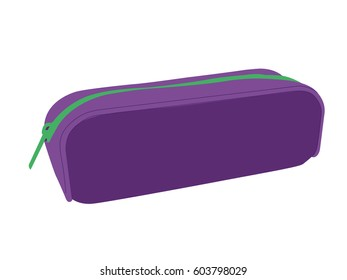 Pencil case vector purpure