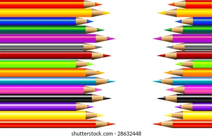 Pencil Crayons Background