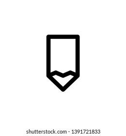 pencil, draw icon vector illustration