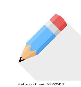 Pencil. Flat Design vector icon