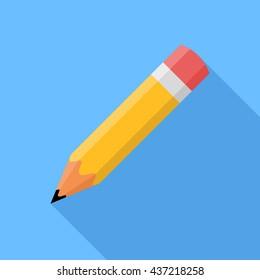 Pencil . Flat vector icon