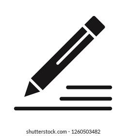 Pencil icon. Edit vector sign