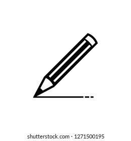 Pencil icon with EPS 10 – jpeg format, simple and trendy flat style isolated on white background