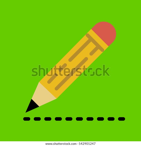 pencil icon flat disign