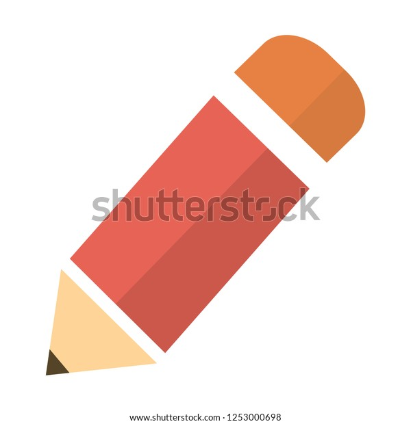 Pencil Icon flat vector illustration logo sign/symbol. For mobile user interface