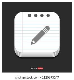 Pencil icon - Free vector icon