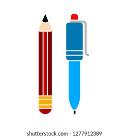 pencil icon - pencil isolated , stationary illustration - Vector pen