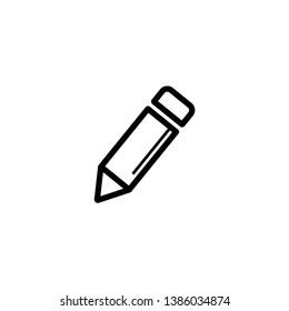 pencil icon on white background, vector symbol - Vector