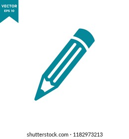 pencil icon in trendy flat design