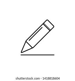 pencil icon vector illustration - vector
