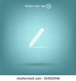 pencil icon, vector illustration