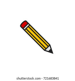Pencil Icon Vector Isolated