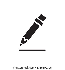 pencil icon vector trendy style