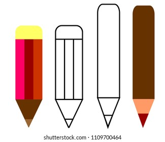Pencil Illustration Vector