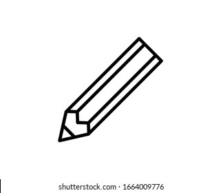 Pencil line icon. High quality outline symbol for web design or mobile app. Thin line sign for design logo. Black outline pictogram on white background