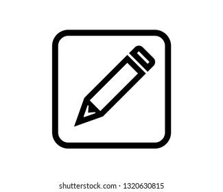 pencil line vector icon