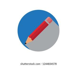 pencil logo vector icon template Illustration