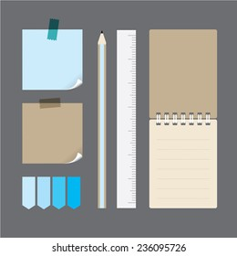 pencil and notepaper set