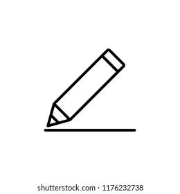 pencil outline icon line