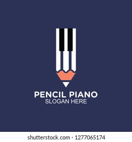 pencil and piano clean logo