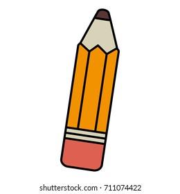 pencil school isolated icon
