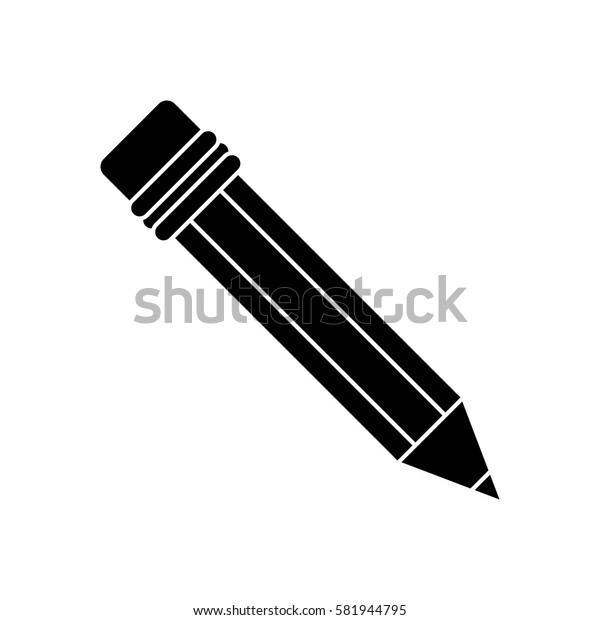pencil school utensil wood pictogram