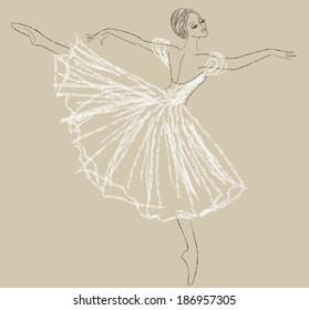 Sketch Ballerina Images Stock Photos Vectors Shutterstock