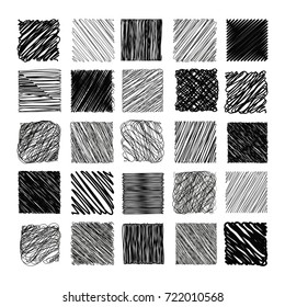 Pencil Sketch Texture Vector Set