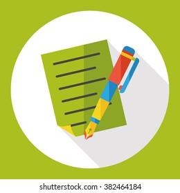 pencil stationery flat icon