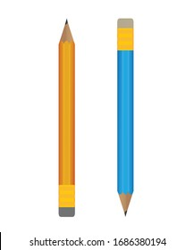 pencil with two colors vector illustration