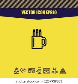 Pencilcase icon vector