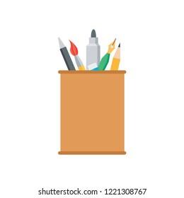 pencilcase vector illustration