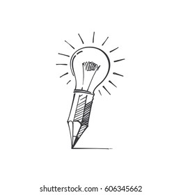 Lightbulb Drawing Images Stock Photos Vectors Shutterstock