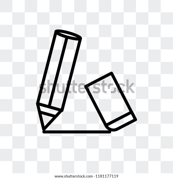 pencin eraser vector icon isolated on stock vector royalty free 1181177119 shutterstock