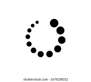 pending icon symbol, vector isolated on white