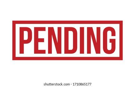 Pending Rubber Stamp. Red Pending Rubber Grunge Stamp Seal Vector Illustration - Vector