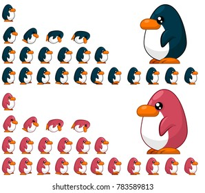 Penguin Animated Game Character