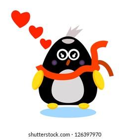 penguin cartoon character illustrator for design