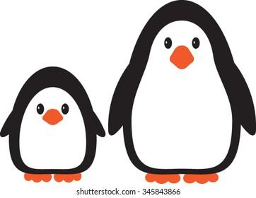 Penguin, Cartoon, Vector, Illustration