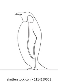 Penguin Continuous Line Drawing