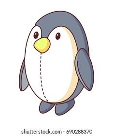 Penguin Doll Cartoon Vector Illustration