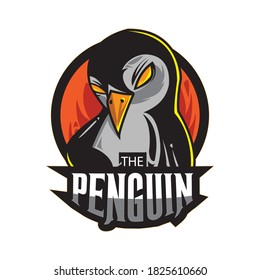 Penguin Esport Logo Free Vector