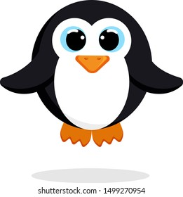 penguin in flat style vector image