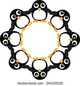 Penguin frame