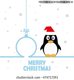 Penguin, hat, toy icon vector EPS 10