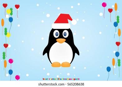 penguin, hat vector icon