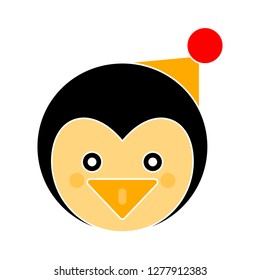 penguin icon - penguin isolated ,snow symbol illustration - Vector penguin