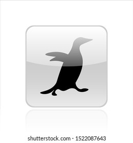 Penguin icon vector design. Penguin illustration